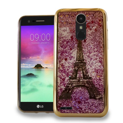 LG Stylo 3 Stylus 3 Stylo 3 Plus Luxury Sparkling CHROME Glitter Motion PARIS Tower GOLD for Boost Mobile / MetroPCS / Sprint / T-Mobile (Metro Cases Motion Pcs Lg Phone)