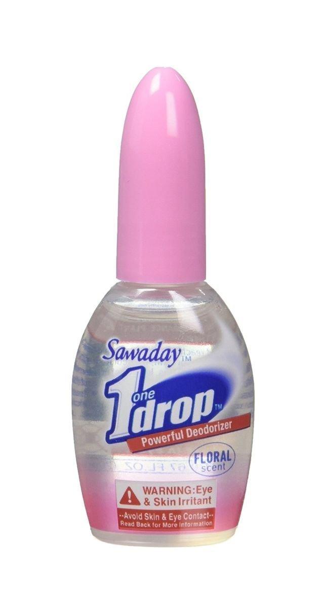 One Drop Powerful Deodorizer, Floral 0.67 oz (20 ml), 2 pk