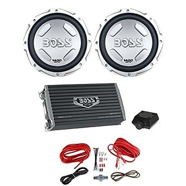 BOSS AUDIO CX122 12 2800W Car Power 2) Subwoofers Sub + 2Ch Amplifier+ Amp Kit