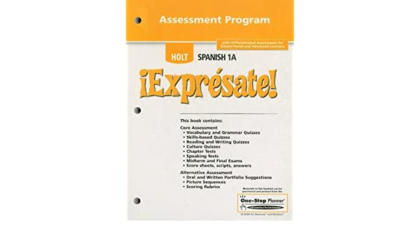 Amazon holt spanish 1a expresate assessment program amazon holt spanish 1a expresate assessment program 9780030743597 rinehart and winston holt books fandeluxe
