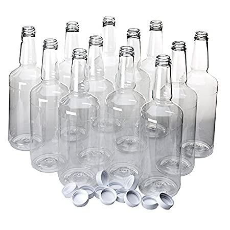 Amazon.com: Cuello largo Quart Botellas de plástico: Kitchen ...