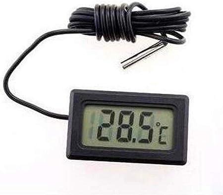 Isuper Termómetro LCD, Medidor de Temperatura del congelador de ...