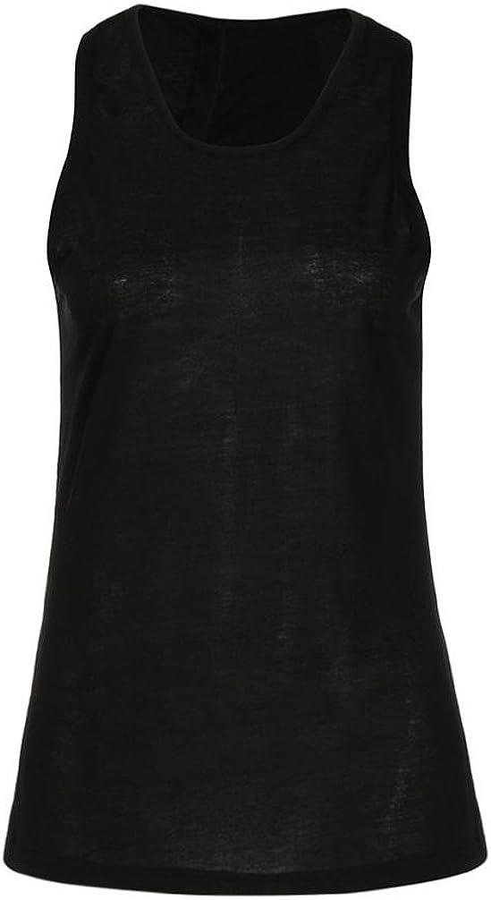 MCYs Damen Sommer Lose Cross R/ücken Yoga Shirt /ärmellos Workout Oberteile Top Fitness Sport Tank Weste T-Shirt Bluse Crop Top