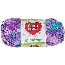Coats Yarn Red Heart Gumdrop Yarn, Grape