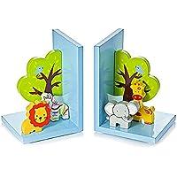 Mousehouse Gifts Serre Livres Enfants Animal Jungle Safari 3D en Bois Une Chambre de bébé garçon Fille