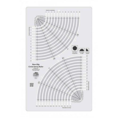 auténtico Creative Grids Circle Savvy Quilt Ruler (CGRSAV1) (CGRSAV1) (CGRSAV1) by Creative Grids  tienda de venta en línea