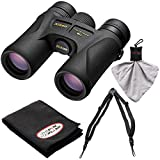 Nikon Prostaff 7S 8×42 ATB Waterproof/Fogproof Binoculars with Case + Easy Carry Harness + Cleaning Cloth Kit