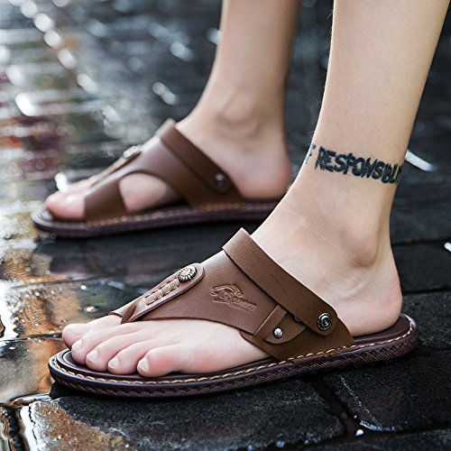 Xing Lin Sandali Di Cuoio Gli Uomini Di Sandali Estivi 45 Trend Con Due Uomini E Le Scarpe Da Spiaggia 46 Cool Trascinare E 48 Yards Casual Sandali Di Cuoio 47 Scarpe Marea ,45,6601Una Carta Il Suo