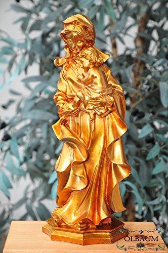 36 - 38 cm, bronce (acabado brillante), Santa María, barnizada & - gran madre de Dios con niño Jesús, Madonna como un símbolo de la inocencia y la puro ...