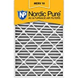 Nordic Pure 24x30x2 MERV 10 Pleated AC Furnace Air Filter,  Box of 3
