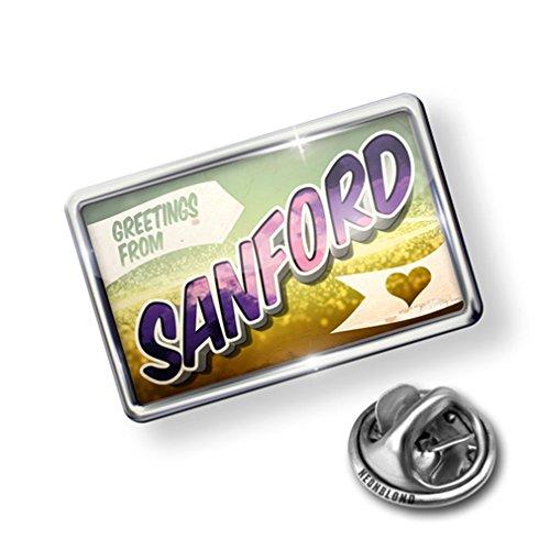 Pin Greetings from Sanford, Vintage Postcard - Lapel Badge - ()