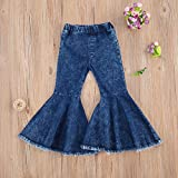 HYUI Toddler Baby Girl Tie Dye Flared Jeans