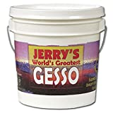 Jerry's World's Greatest Gesso Primer Paint Highly Pigmented Bright White Thick Creamy Consistency and Smooth Gesso Primer Paint - [White - Quart]