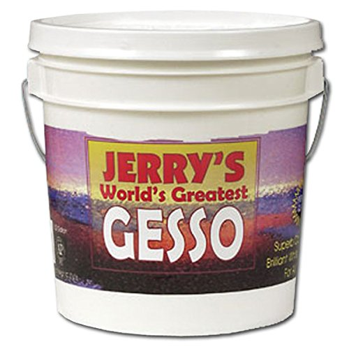 Jerry's World's Greatest Gesso Primer Paint Highly Pigmented Bright White Thick Creamy Consistency and Smooth Gesso Primer Paint - [White - Quart] -