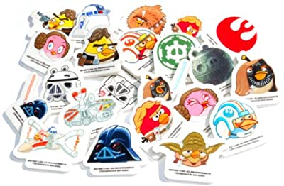 Star Wars Angry Birds Erasers Collection Set of 24 Toys