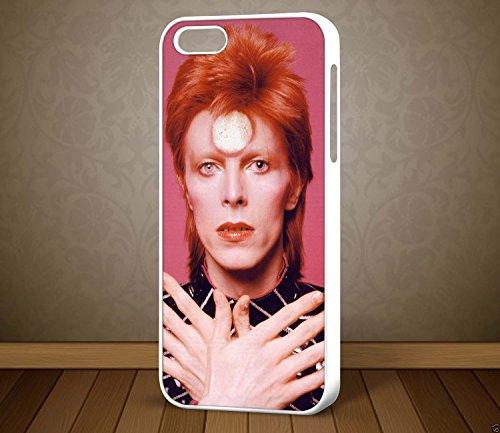 David Bowie Ziggy Stardust Design 3–pour iPhone et Samsung Galaxy S7Téléphone cas (Blanc)