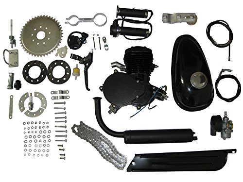 DEEP TOUCH 24'' or 26'' or 28'' 80cc Bike Bicycle Motorized 2 Stroke Cycle Motor Engine Kit Black by DEEP TOUCH