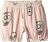 NUNUNU Baby Girl's Skull Mask Yoga Shorts (Infant/Toddler/Little Kids) Powder Pink 0-6 Months