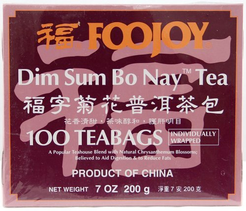 Foojoy Dim Sum Bo Nay Tea - 100 Tea Bags (7.0 Oz)