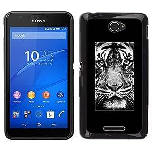 iKiki Tech / Estuche rígido - Cartel África Majestic Animal - Sony Xperia E4