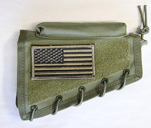 m1surplus Tactical Green Color Cheek Rest With Stock Riser + PATRIOT USA FLAG Morale Patch Fits Remington 700 770 798 597 Model SEVEN 7 Weatherby MARK V Vanguard HOWA 1500 (Remington 597 Scope Mount)