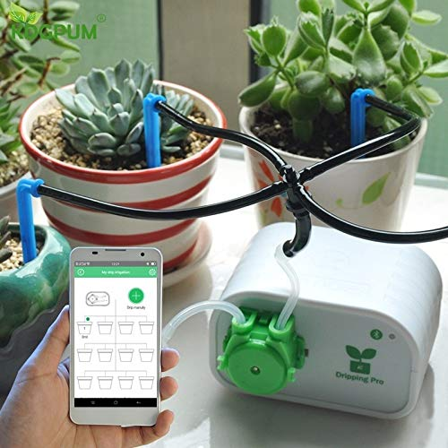 Cell Phone Control Intelligent Garden Automatic Watering Controller Indoor Plants Drip Irrigation Device Water Pump Timer System by lovira