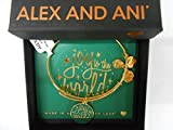 Alex and Ani Words are Powerful, Joy to The World Bangle Bracelet, Shiny Gold, Expandable