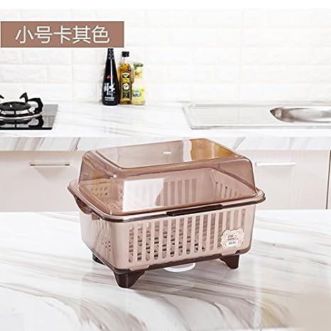 WangYangDaHai Caja de Almacenamiento, Dust-Proof Plato con Tapa, vajillas y Cajas de Almacenamiento, Estanterías de Cocina, lavavajillas,Caja de Caqui ...