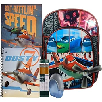 235769f1f52c Disney Planes Backpack Red 16 Inch And School Supply Set Bundle Of 5 ...