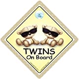 Twins On Board Car Sign Twins Car Sign Twins On Board Baby on Board Car Signs Twins On Board Car Signs Twins On Board Sign Baby Car Sign Brown Shades Baby Car Safety Signs baby on board