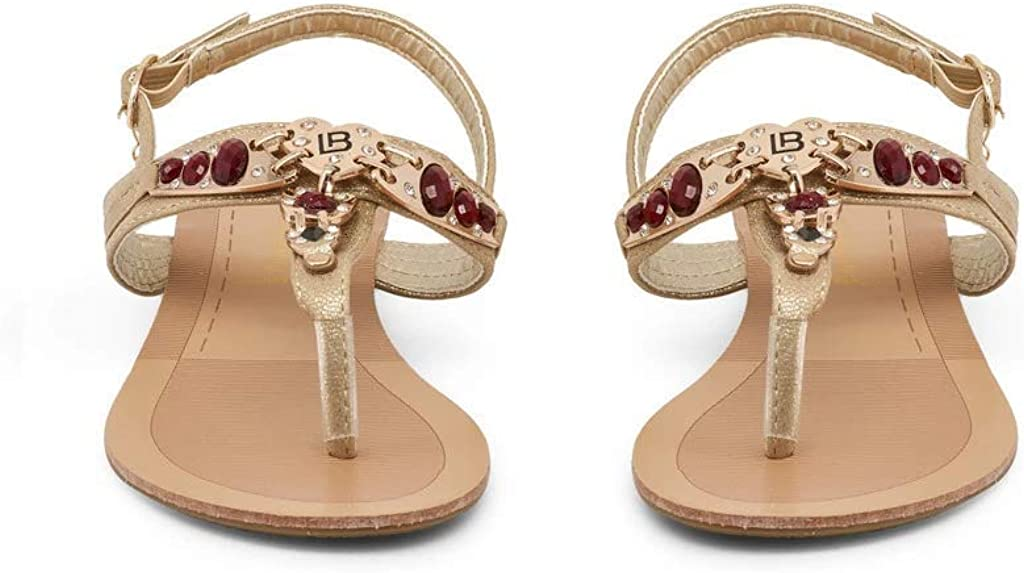 Laura Biagiotti Womens Sandals 713/_Metal/_Silver