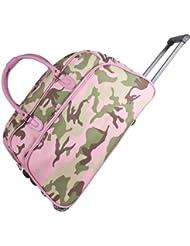 Camo Rolling Duffle Bag (Pink)