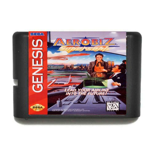 Taka Co 16 Bit Sega MD Game Aerobiz Supersonic 16 bit MD Game Card For Sega Mega Drive For Genesis