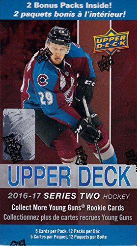 2016-2017-upper-deck-nhl-hockey-series-two-factory-sealed-unopened-blaster-box-of-12-packs
