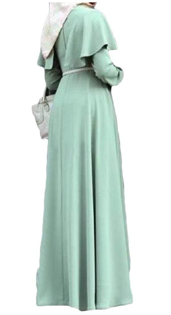 Babaseal Vestido de Fiesta de Manga Larga de Las Mujeres de Manga Larga Más el Tamaño árabe Musulmán Abaya Vestido Largo: Amazon.es: Ropa y accesorios