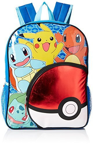 Pokemon Backpack Kids, Boys, Girls School Travel Lightweight Bookbag - Blue 16