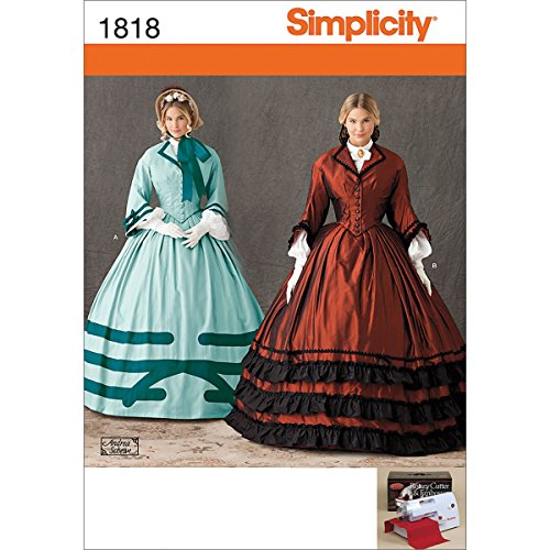 Simplicity 1818 Misses Costume Sewing Pattern, Size U5 (Gone With The Wind Costumes Patterns)