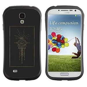 Suave TPU GEL Carcasa Funda Silicona Blando Estuche Caso de protección (para) Samsung Galaxy S4 I9500 / CECELL Phone case / / Indian Holy Structure Eye Fish /