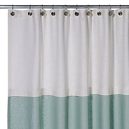 Amazon Veratex Soho Linen Shower Curtain Aqua 72 In By 75