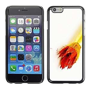 FECELL CITY // Duro Aluminio Pegatina PC Caso decorativo Funda Carcasa de Protección para Apple Iphone 6 Plus 5.5 // Art Artist Drawing Color White Gold