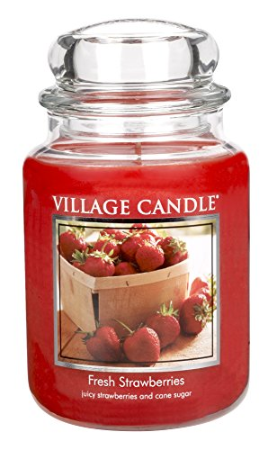 Village Candle Fresh Strawberries Scented