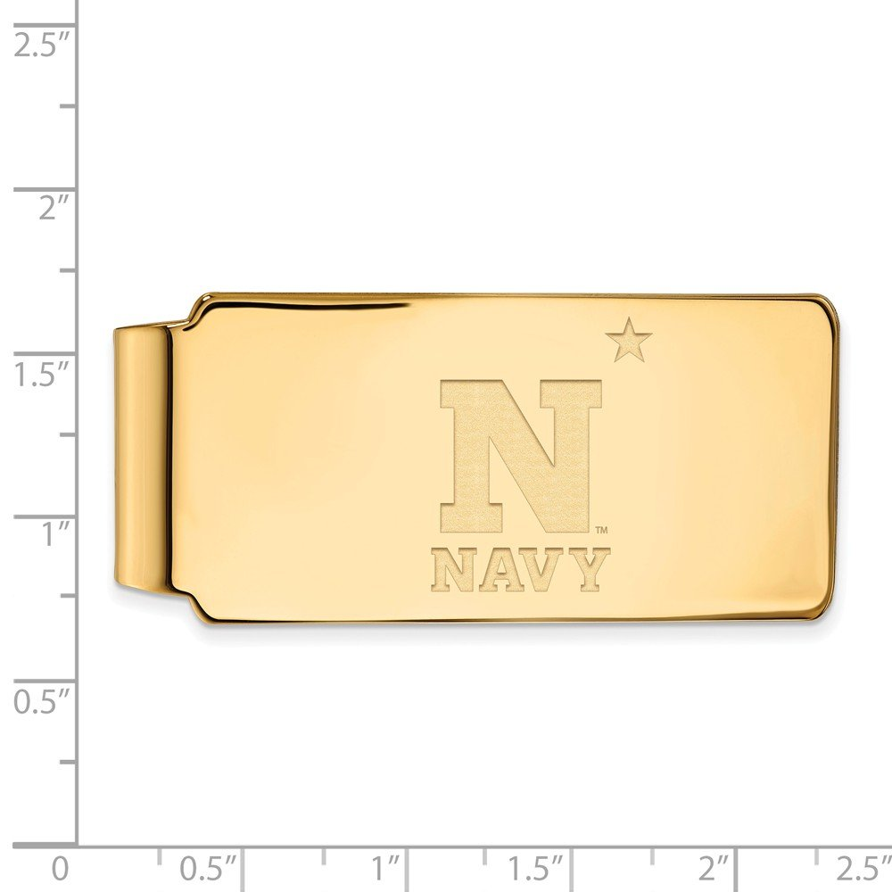 55mm x 26mm Jewel Tie 925 Sterling Silver with Gold-Toned Navy Money Clip