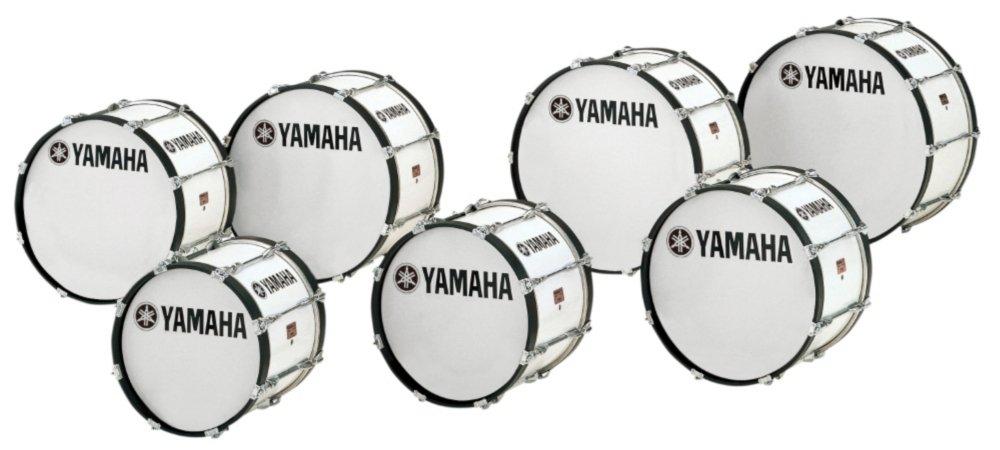 Yamaha Power-Lite Marching Bass Drum White Wrap 20x13