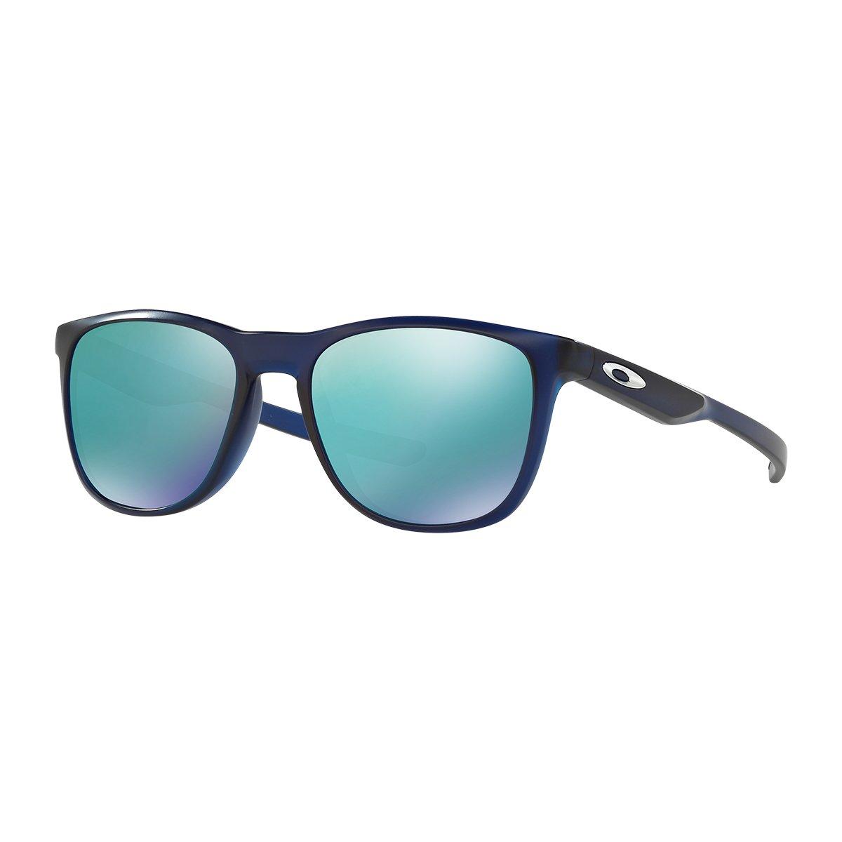 Oakley Men's Trillbe X Non-Polarized Iridium Rectangular Sunglasses MATTE TRANSLUCENT BLUE I 52 mm