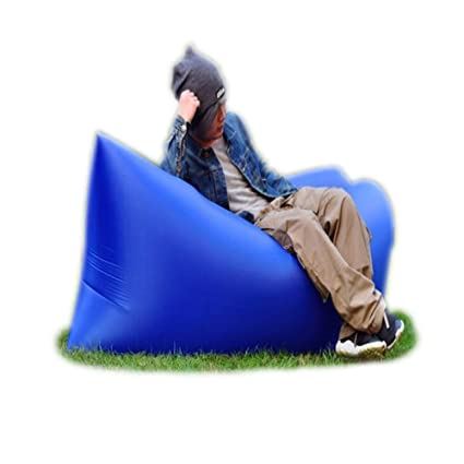 Saco de dormir hinchable Trumpo, con diseño de tumbona con nailon impermeable para verano