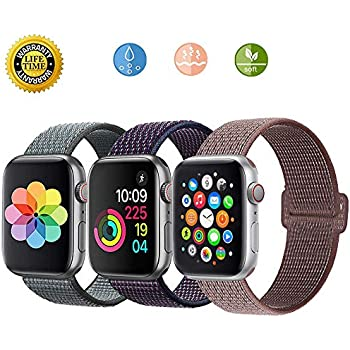Amazon.com: AKZ Sport Loop Strap for Apple Watch Band 42mm ...