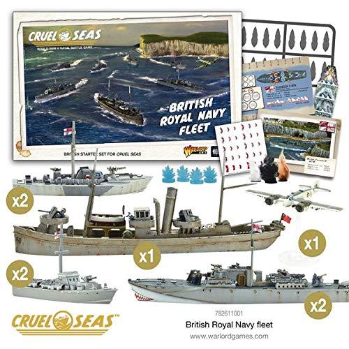 Cruel Seas Royal Navy Fleet Starter Set, World War II Naval Battle Game ... by Cruel Seas (Image #1)