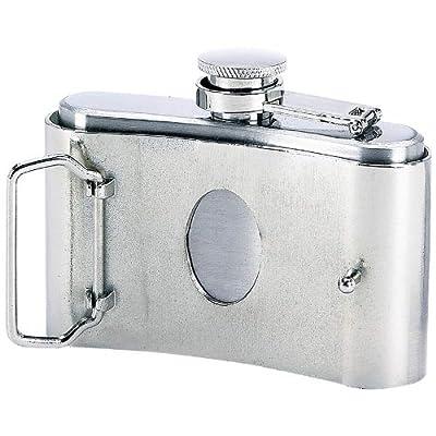 Maxam 3oz Stainless Steel Belt Buckle Flask