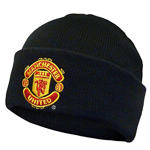 Manchester United Club (Manchester United Football Club Official Soccer Gift Knit Bronx Beanie Hat)