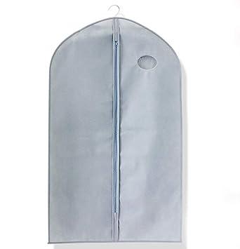 2eae3f504c57a respirant vêtement Housse Costume robe de vêtements longue Fermeture Éclair  Sac de cintre avec fenêtre transparente ...